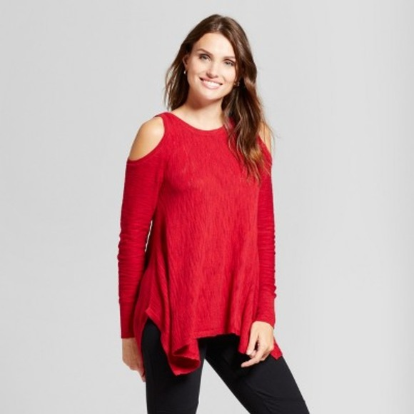 Knox Rose Cold Shoulder Sharkbite Sweater
